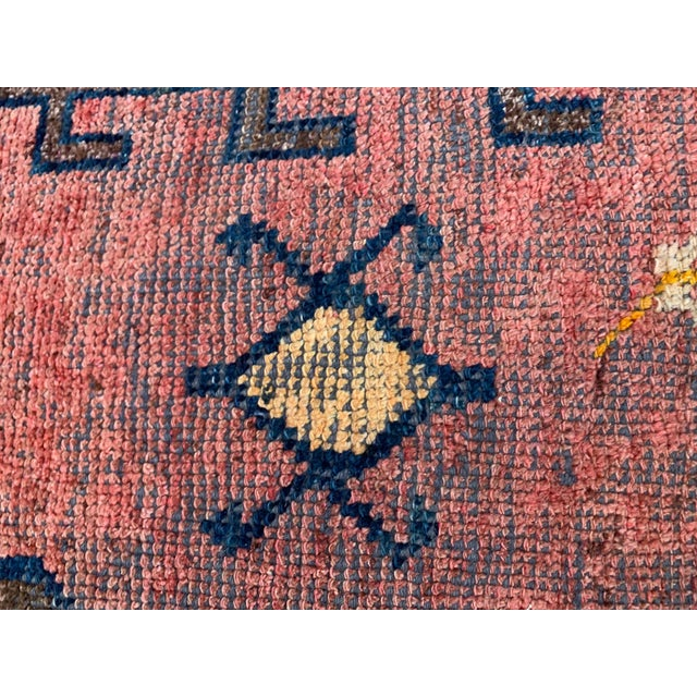 Vintage Persian Rug Ottoman Table For Sale - Image 9 of 11