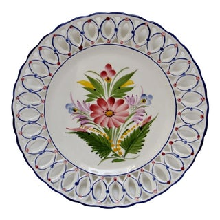 Italian Porcelain Charger For Sale