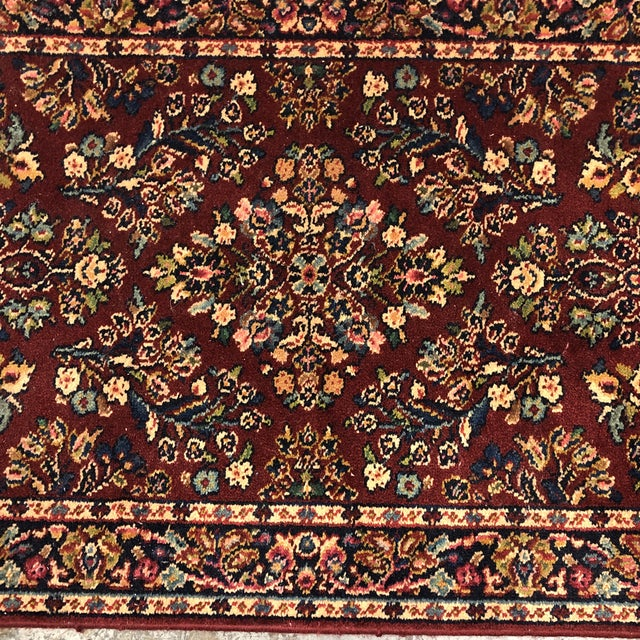 2010s 2ft6in × 5ft2in Karastan Red Sarouk Area Rug For Sale - Image 5 of 13
