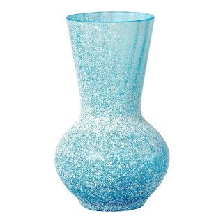 Blue Seguso 1960s Scavo-Style Mini Murano Glass Vase For Sale