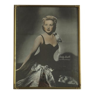 Art Deco Photo Frame W Betty Grable Photo Print