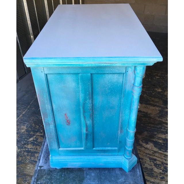 1980s Pulaski Furniture Nightstand W/ Crystal Pulls For Sale - Image 10 of 13