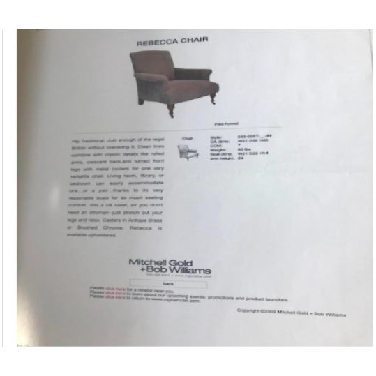 Modern Mitchell Gold+Bob Williams Rebecca Chairs - A Pair For Sale In New York - Image 6 of 7