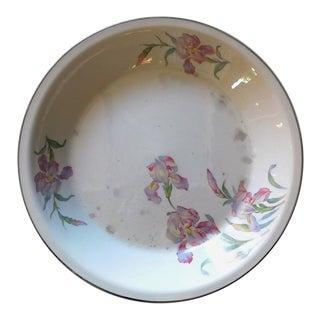 Vintage Ceramic Floral Serving Bowl For Sale