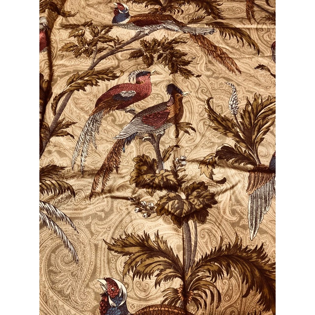 Feathered Birds in Trees a Braemore Design Screen Fabric For Sale - Image 5 of 7