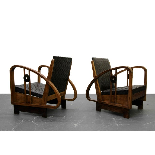 This pair of Authentic Art Deco lounge chairs is nothing short of RARE and AMAZING. Petite in size but HUGE on character...