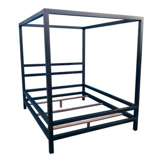 Modern Queen Square Tube Canopy Bedframe For Sale