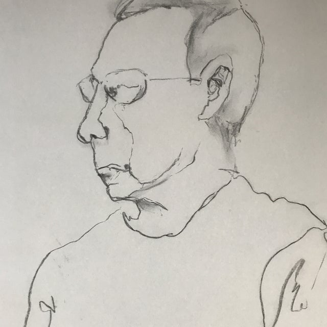 Portrait of a Man Drawing - Image 3 of 3