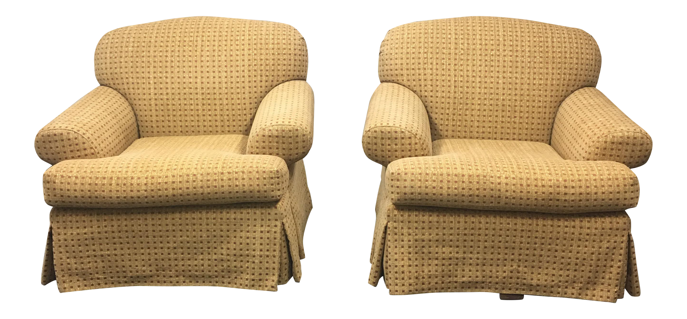sc 1 st  Chairish & A. Rudin Custom Upholstered Swivel Chairs- A Pair | Chairish