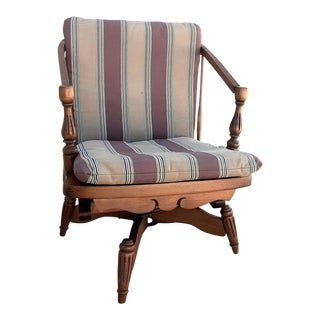 Antique English Comb Back Swivel Chair For Sale