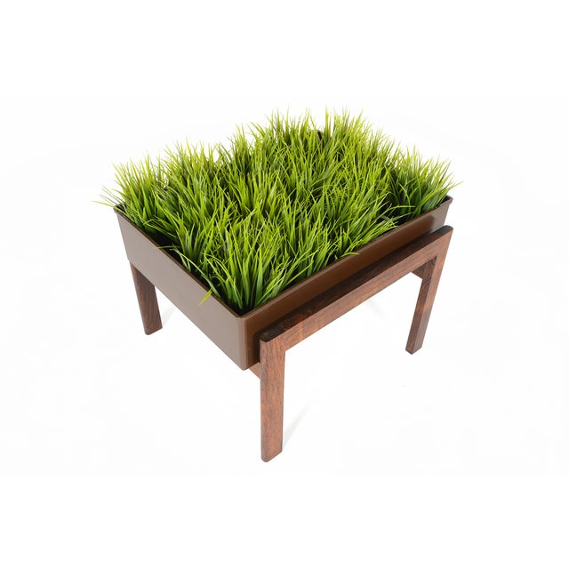 This gorgeous Danish modern planter box features solid rosewood construction and a beautifully designed geometric frame. A...