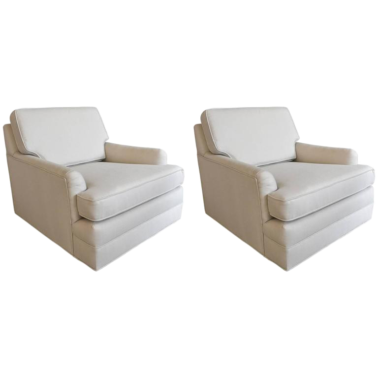 1960s Harvey Probber Floating Lounge Chairs   A Pair
