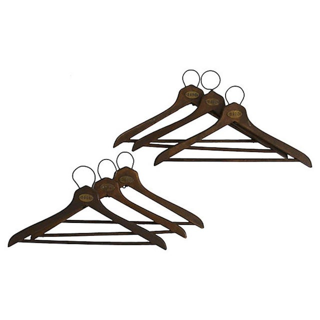 1930s Coat Check Numbered Hangers, Set of 6 For Sale - Image 6 of 6