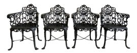 Image of Gothic Revival Outdoor Dining Chairs
