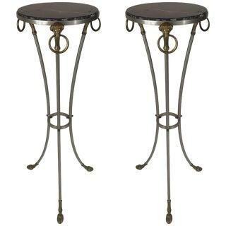 Pair of Maison Jansen Ram Motif Pedestals For Sale