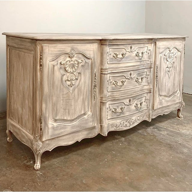 Antique French Louis XV Whitewashed Buffet For Sale - Image 9 of 13