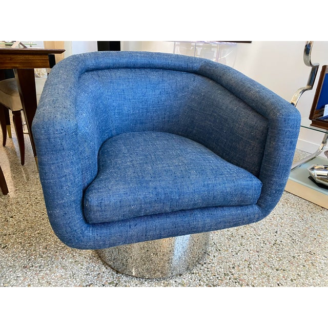 Mid-Century Modern Leon Rosen for Pace Chairs Memory Swivel - a Pair For Sale - Image 9 of 13