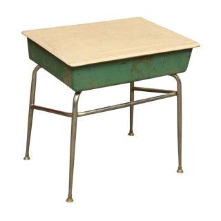 Metal Green School Desk For Sale