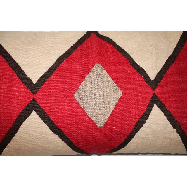 Early Geometric Navajo Weaving Bolster Pillow For Sale - Image 4 of 6