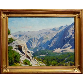 1970s Vintage Taylor Lynde Montana Lake Scenery Oil Painting Preview