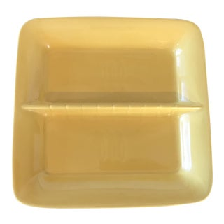 Stangl Pottery Mid-Century Modern Square Yellow Dish For Sale