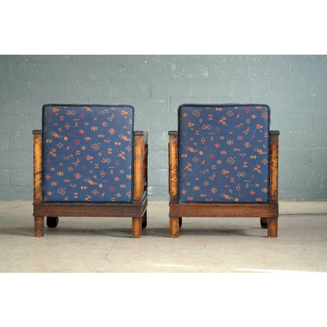 Axel Einar Hjorth Flamed Birch Lounge or Club Chairs, Sweden, 1930s - a Pair For Sale - Image 12 of 13