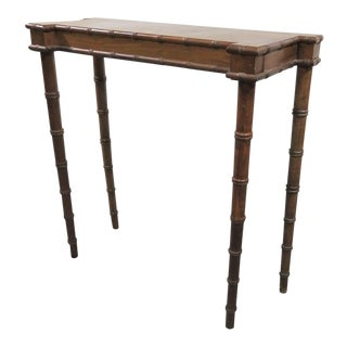 Florentia Italian Faux Bamboo Console Table For Sale