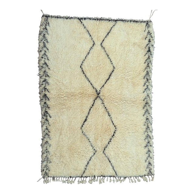 1980s Beni Ourain Rug- 6′1″ × 11′5″ For Sale
