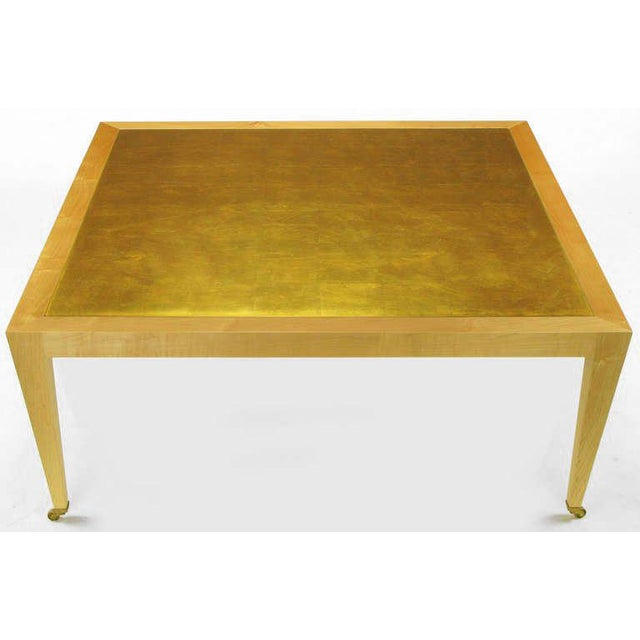 Admirable Donghia Square Flame Maple Gold Leaf Coffee Table Cjindustries Chair Design For Home Cjindustriesco