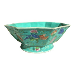 Chinese Bowl With Enamel Decoration