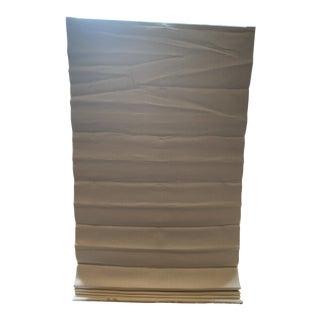 Restoration Hardware White Linen Roman Shades For Sale