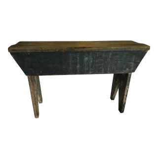 1800s Original Paint Blue Bench For Sale