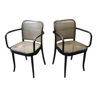 Josef Hoffmann Prague Model 811 Chairs for Stendig - a Pair For Sale