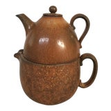 Image of Gunnar Nylund Mid-Century Modern Tea Pot Set For Sale
