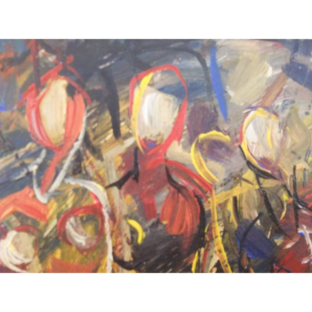 Vintage Mid-Century Portrait of Four Females Painting For Sale - Image 4 of 8