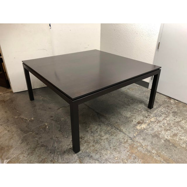 2010s Contemporary Custom Square Oak Dining Table For Sale - Image 5 of 8