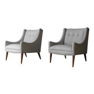 Midcentury Scoop Lounge Chairs - a Pair For Sale