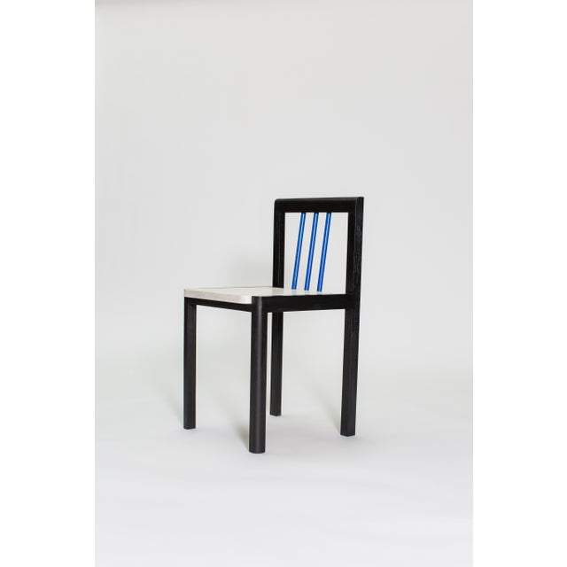 Wood Steven Bukowski Contemporary Piano Chair in Lacquered Ash For Sale - Image 7 of 8