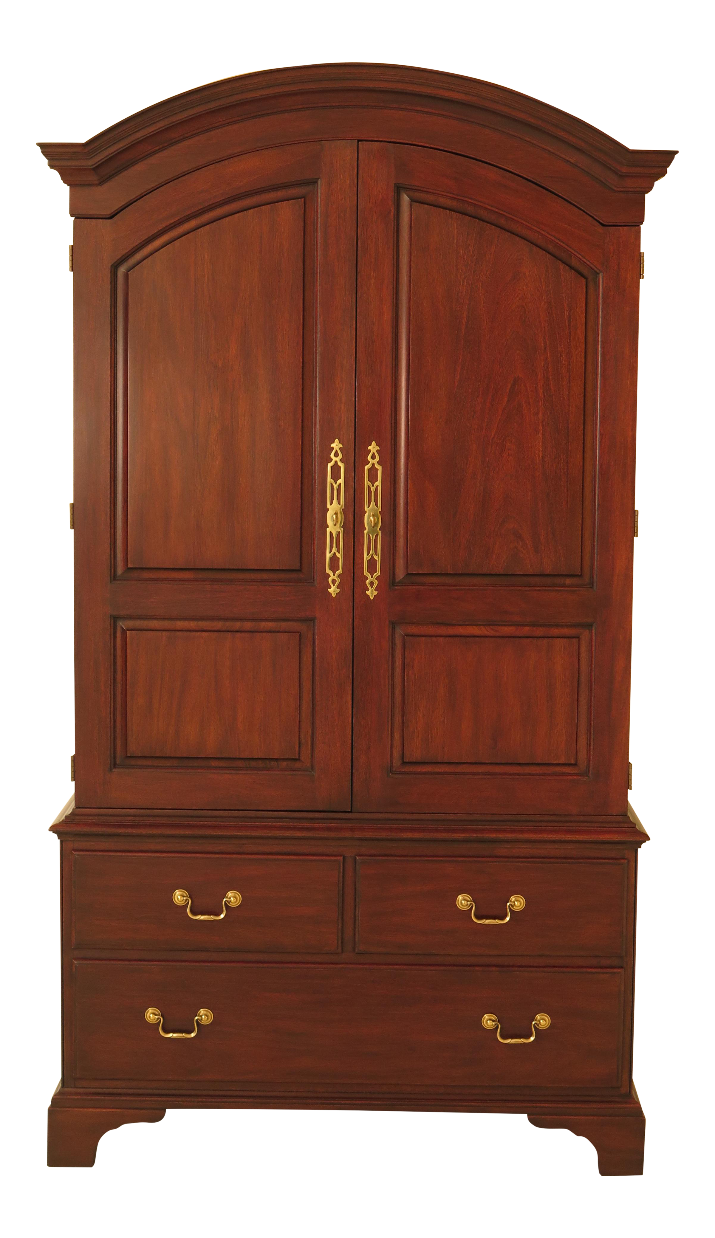 Henkel Harris Mahogany Arched Top Armoire