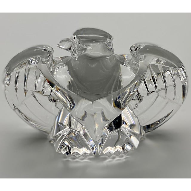 Vintage Steuben Glass Lloyd Atkins Crystal Decorative Eagle For Sale - Image 9 of 13