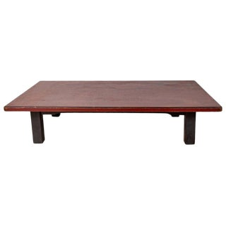 Japanese Taisho Period Lacquered Coffee Table For Sale