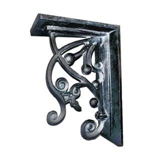 Arts & Crafts Style Scrolling Vine Heavy Cast Iron Corbel Shelf Bracket For Sale
