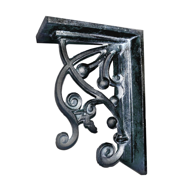 Picture of: Arts Crafts Style Scrolling Vine Heavy Cast Iron Corbel Shelf Bracket Chairish