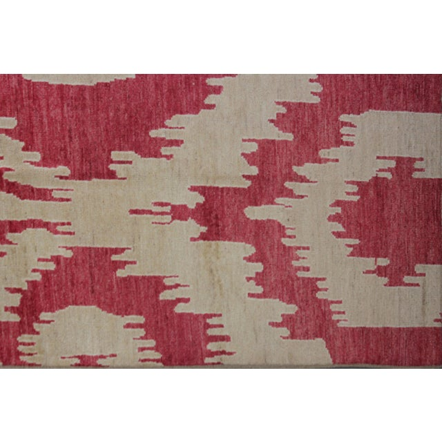 """Hand Knotted Ikat Rug - 13'4"""" X 10'6"""" For Sale - Image 4 of 4"""