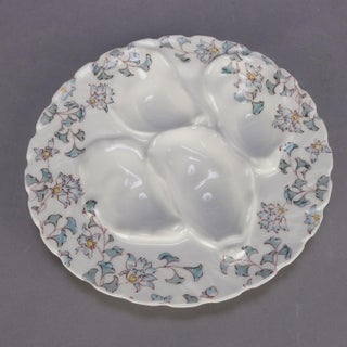 6 French Hand Painted Floral Haviland Limoges Porcelain Oyster Plates Preview