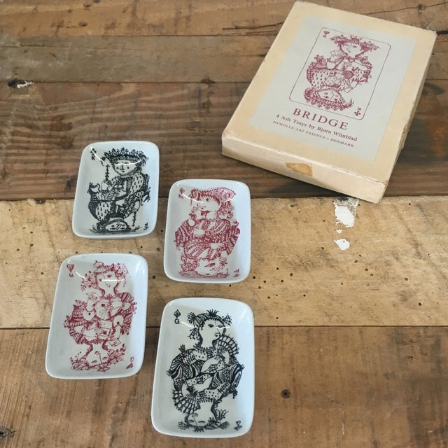 Card Game Ashtrays by Bjorn Wiinblad - Set of 4 - Image 2 of 9