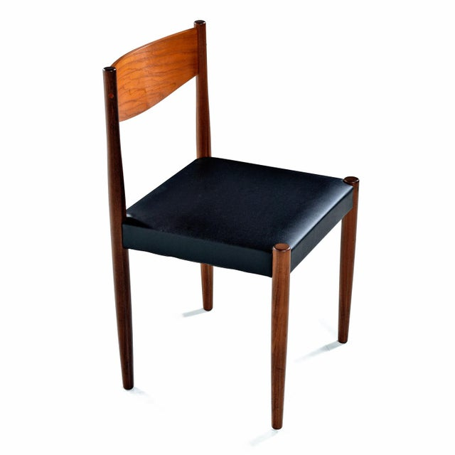 Bauhaus Danish Modern Rosewood & Teak Dining Chairs For Sale - Image 3 of 7