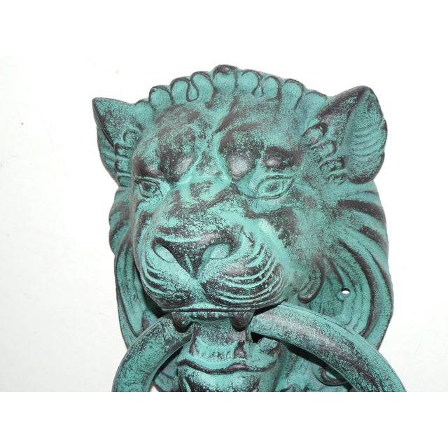 Verdigris Metal Lion's Head Ring - Image 7 of 7