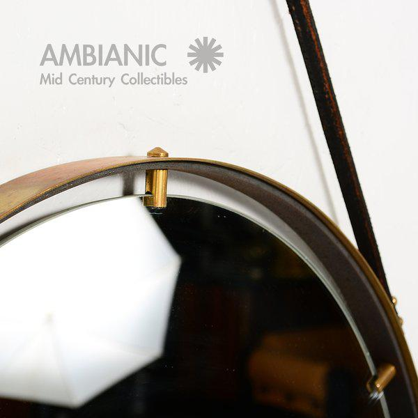 Brass Wall Hanging Mirror For Sale In San Diego - Image 6 of 9