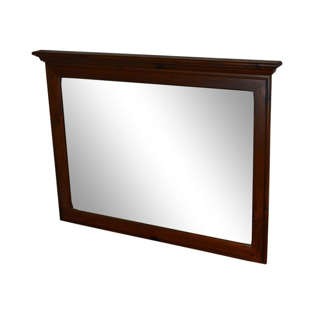 Ethan Allen Country Craftsman Collection Pine Mirror For Sale - Image 13 of 13